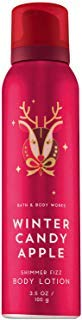 Bath and Body Works WINTER CANDY APPLE Shimmer Fizz Body Lotion 3.5 Ounce (2018 -