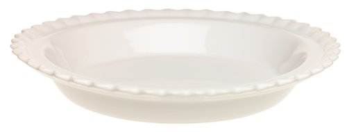 Chantal Ceramic 9-Inch Pie Dish, White