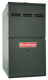 Goodman GMS81005CN 100,000 BTU Furnace, 80% Efficiency, Single-Stage Burner, 2,000 CFM Multi-Speed Blower, Upflow/Horizontal Flow Application