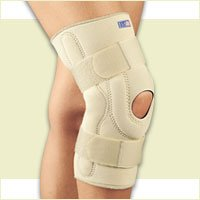 FLA Professional Stabilizing Knee Brace with Composite Hinges. Beige. Small