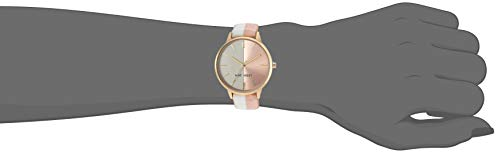 Nine West Women's Accented Leather Strap Watch