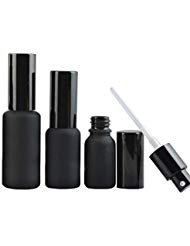 (Furnido 10ml/20ml/30ml Matte Black Glass Perfume Spray Bottle Enssential Oil Glass Sample bottles With black Aluminum Mist sprayer Lotion Pump Refillable Empty Emulsion Container-pack of 2 (30ml))