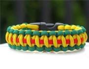 Vietnam (Green, Yellow, Red) Paracord Survival Bracelet By Bostonred2010 (8″), Outdoor Stuffs