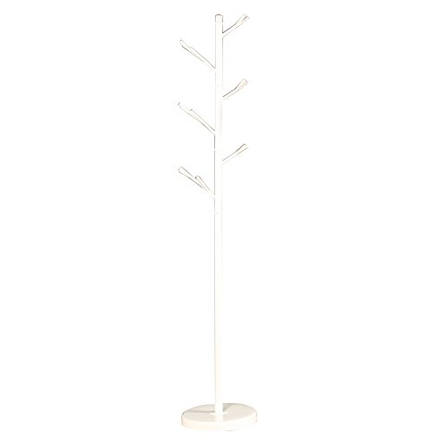 Fly Mai Wrought Iron Coat Rack Bedroom Tree Twigs 175cm Hanger Simple Vertical Hanging Clothes Rack Black And White Optional (Color : White)