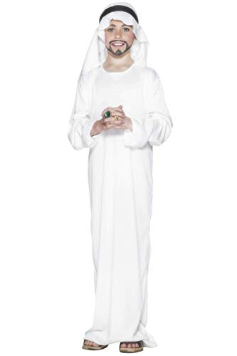 Smiffy's Arabian Sheik Kids Costume, White, Large