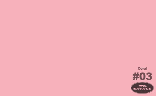 Price comparison product image Savage SV-53X12-3 Seamless Background Paper 53-Inch by 12 Yards,  Coral,  3
