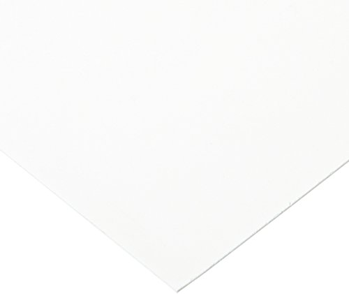 Celtec Expanded PVC Sheet, Satin Smooth Finish, 1mm Thick, 12' Length x 12' Width, White