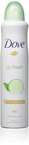 Dove?¤Ä? Deodorant & Anti-perspirant, 150ml=5.07oz / Each, 0% Alcohol, 24-48 Hr Protection (Go Fresh Fresh Touch Cucumber & Green Tea Scent) by Dove from Dove
