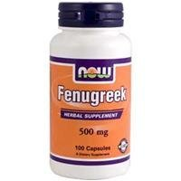 Now Foods, Fenugreek, 500mg x 100Caps by Now (Herbs 1g 100 Capsules)