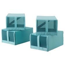 Ikea Skubb caja de zapatos azul 4 unidades