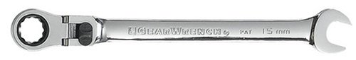 - GearWrench 9915 15mm Flex-Head Combination Ratcheting Wrench