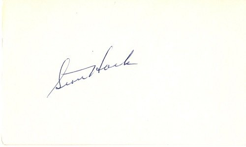 Stan Hack Signed - Autographed Vintage 3x5 inch Index card -Chicago Cubs- Deceased 1979-Guaranteed to pass PSA or JSA
