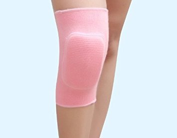 StarCity Kids Cotton Padded Knee Sleeves Protective Dancing Knee Brace Support Strap & Wrap Knee for Basketball, Volleyball, Football, Skating Sports