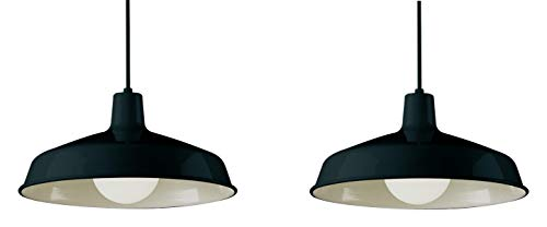 Trans Globe Lighting Indoor Sherman 15.5 Pendant, Black 2 Pack