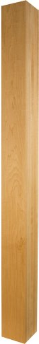 Contemporary Furniture Leg (Square Contemporary Dining Table Leg in Knotty Pine - Dimensions: 29 x 2 1/2 inches)