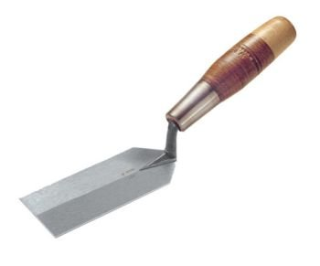 W. Rose RO58-5L Margin Trowel with Leather Handle, 5-Inch x 2-Inch, Steel Grey and Brown Leather by W. Rose