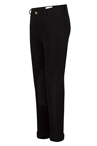 TuffRider Girl's Starter Lowrise Pull-On Jods Breech, Black, 6 ()