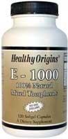 Healthy Origins Vitamin E 1000Iu 120 Sgel by Healthy Origins