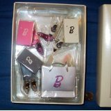 QXE2362 Step Out in Style Barbie Shoes 7pc Fashion Model Collection 2005 Hallmark Ornament