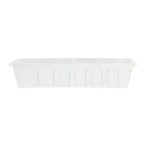 stic Flower Box Planter, White, 30-Inch ()