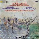 Hovhaness: Talin - For Clarinet and String Orchestra / Diamond: Elegy in Memory of Maurice Ravel / Barber: Serenade for Strings, Op. 1