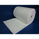 Ceramic Fiber Blanket - Insulation 24'' X 12'' X 1'' for Wood Stoves, Pizza Ovens, Kilns, Forges & More - 6# Pound 2300 Degrees