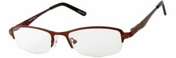Seventeen 5360 Brown Designer Reading Glass Frames , Demo Lens