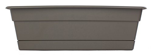 Bloem DCBT36-60 Dura Cotta Plant Window Box, 36-Inch, Peppercorn - Apollo Plastic Deck Planters