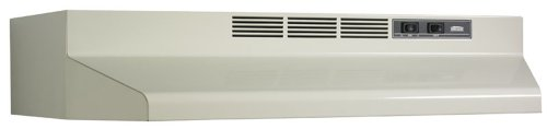 Broan 412402 ADA Capable Non-Ducted Under-Cabinet Range Hood, 24-Inch, Bisque from Broan
