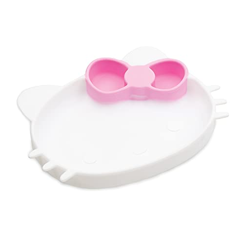 Bumkins Hello Kitty Silicone Grip Dish, Suction Plate, Baby Toddler Plate, BPA Free, Microwave and Dishwasher Safe