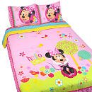 Disney Minnie Mouse Bow-Tique FULL Comforter and Sheets Set bed in a bag