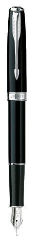 Parker Parker Lacquer Fine Point Fountain Pen with Chrome Trim, Black (1743586)