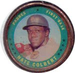 1971 Topps Topps Coins (Baseball) card#77 nate colbert of the San Diego Padres Grade Excellent to Excellent Mint