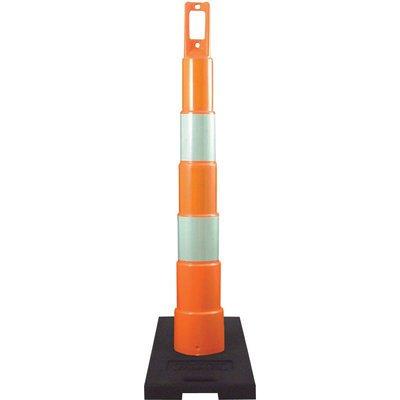 Plasticade Navicade Traffic Channelizing Cone - 48in.H, 6in. Engineer Grade Sheeting, Model# 650R1-O-6-EG-A (Traffic Equipment)