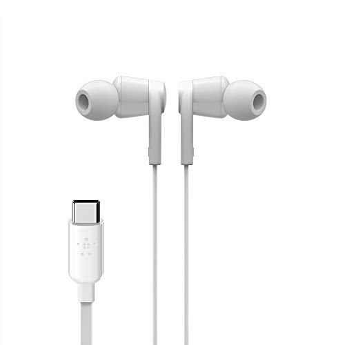 Belkin auriculares USB-C SoundForm (auriculares internos con conector USB-C para Pixel, iPad Pro y dispositivos de…
