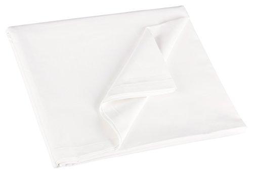 ZOLLNER® Betttuch / Bettlaken weiß ohne Gummizug 250x150 cm aus 100% Baumwolle, direkt vom Hotelwäschspezialisten, Serie