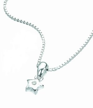 D for Diamond Star Pendant on a 35cm Chain