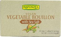 Rapunzel Vegan Vegetable Bouillon with Sea Salt -- 2.97 oz (Rapunzel Organic Bouillon)