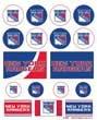 NHL New York Rangers Vinyl Sticker Sheet, 5
