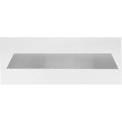 """Kick Plate Finish: Brushed Stainless Steel, Size: 10"""" H x 34"""" W x 0.05"""" D"""