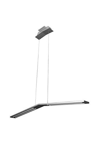 VONN VMC31520AL Modern Linear LED Chandelier Lighting with Adjustable Hanging Light, Silver
