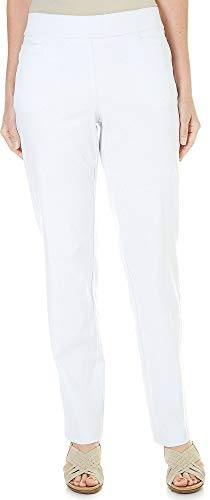 Coral Bay Petite Millennium Pull On Pants 14P White ()