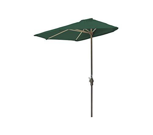 Wood & Style Patio Outdoor Garden Premium Brella Solarvista Half Umbrella, 9'-Width, Green