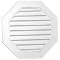 (Gable Vent 22in Wht Octgn Vnyl)