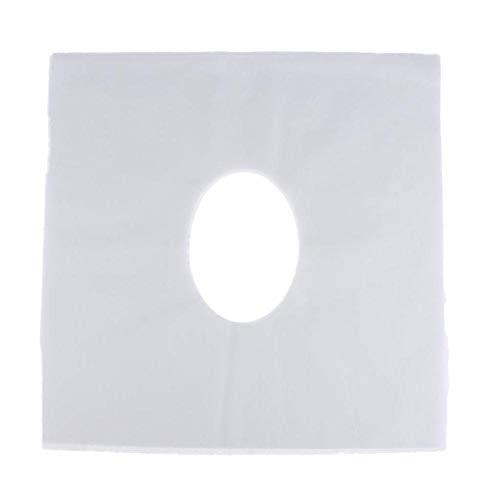 Bulary 100pcs Disposable Massage Table Face Cradle Covers Beauty Salon Pillow Pad Disposable Towel Massage Mattress
