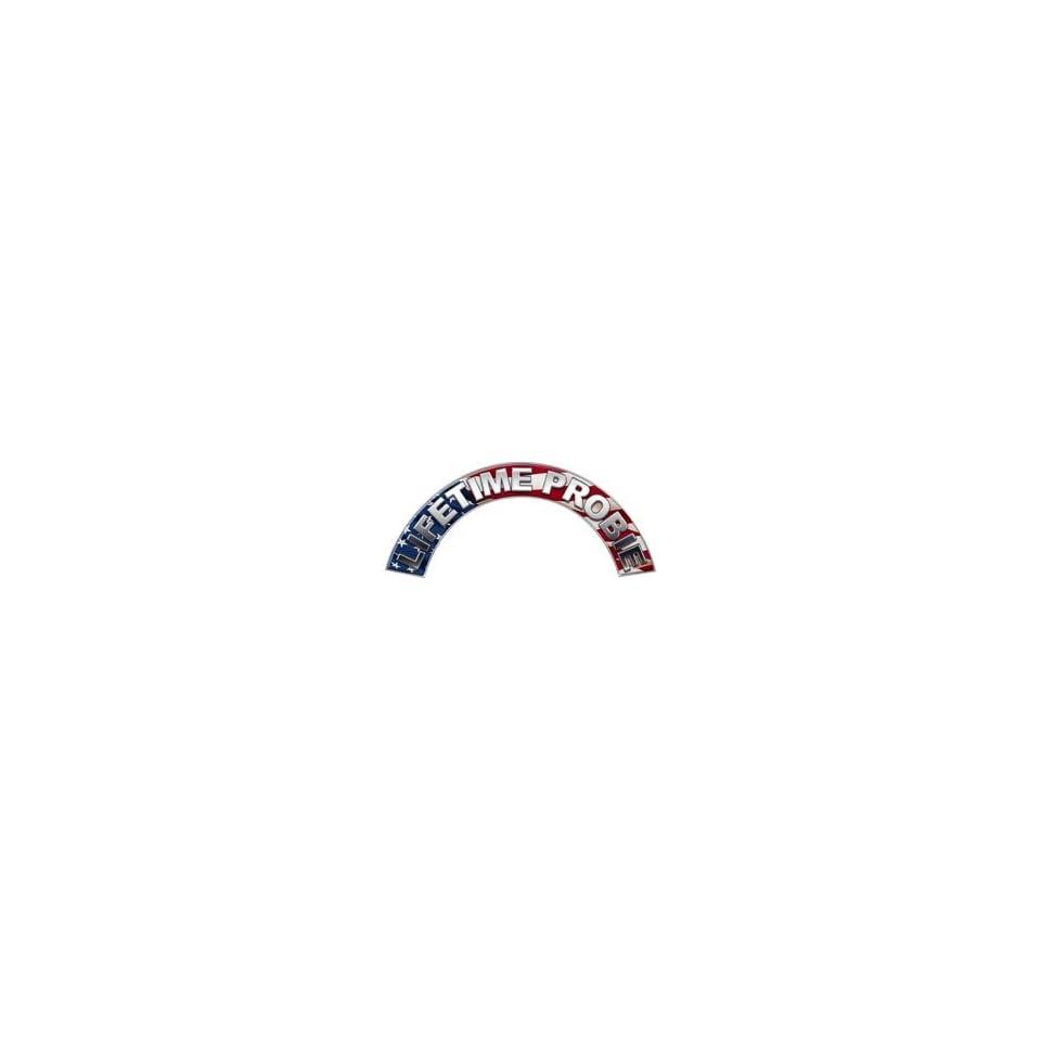 Lifetime Probie American Flag Firefighter Fire Helmet Arcs / Rocker Decals Reflective
