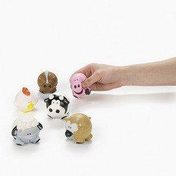 12 Farm Animal-Shaped Relaxable Balls
