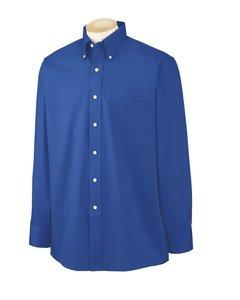 - Van Heusen L/S Wrinkle-Resistant Blended Pinpoint Oxford Button Down Dress Shirt 56900 blue XXXL