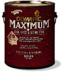 Olympic Maximum Solid Color Latex Deck, Fence And Siding Stain Acrylic Navajo 1 Gl ()