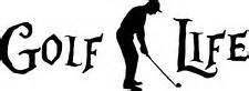 "Golf Life (2 PACK) Love To Golf Golfing Retired Vinyl Decal Sticker|WHITE|Cars Trucks SUV Laptops Wall Art|6"" X 2.5""